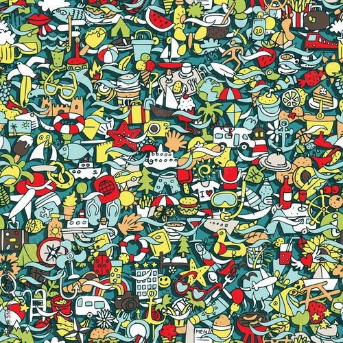 Spoed Foto op Canvas Graffiti Holidays seamless pattern