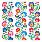 Seamless traditional folk polish pattern - seamless embroidery