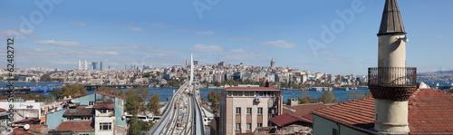 La pose en embrasure Bruxelles panoramic view on Istanbul, Turkey