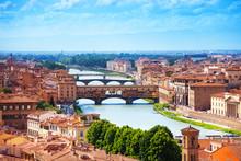 Arno River And Ponte Vecchio