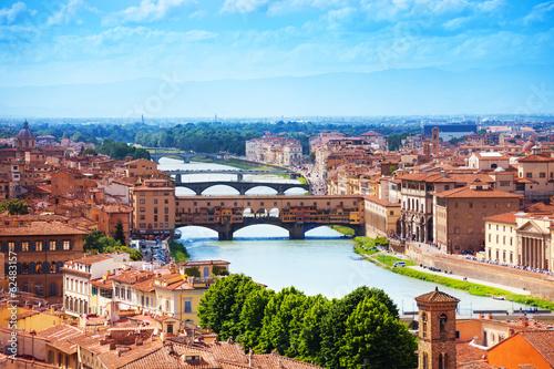 Arno river and Ponte Vecchio Canvas Print