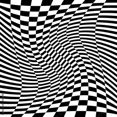 fototapeta na ścianę Motyw géométrique noir et blanc.