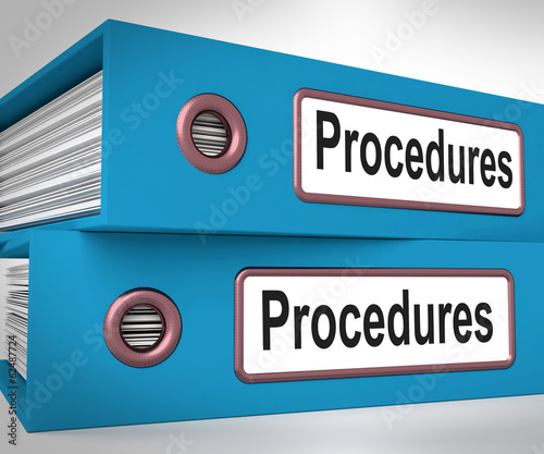 Valokuva  Procedures Folders Mean Correct Process And Best Practice