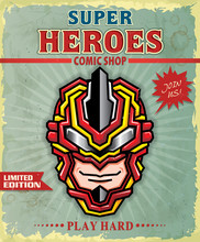 Vintage Super Hero Comic Shop ...