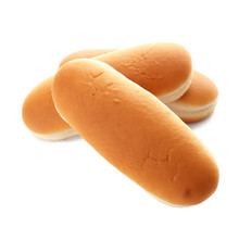 Buns For Hot Dog Isolated On White