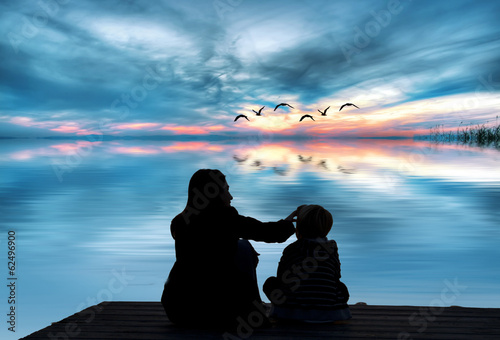 amor de madre en el mar