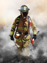 A Firefighter Pierces Through ...
