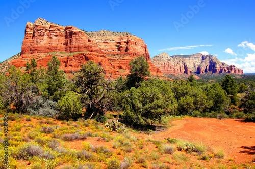 Foto op Aluminium Oranje eclat View of the vibrant red rocks of Sedona, Arizona, USA