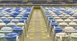 Stadium plastic seats