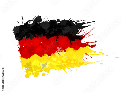 Fotografie, Obraz  German flag made of colorful splashes