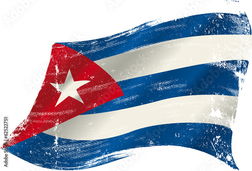Photo  cuban grunge flag