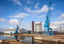 Dockyard Cranes On Humberside ...