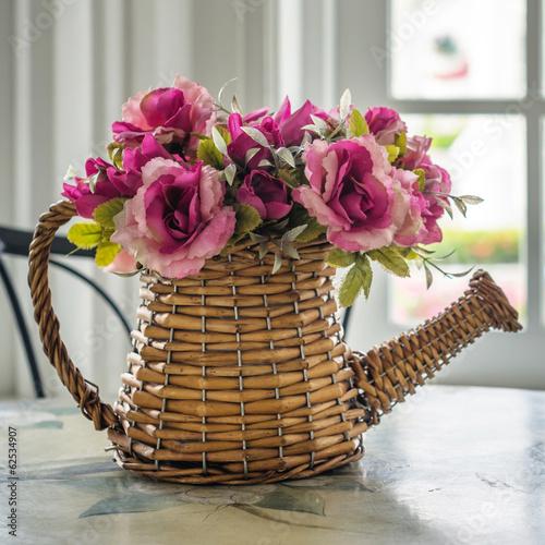 bukiet-sztucznych-rozowych-kwiatow