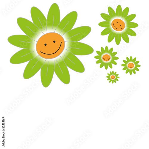 Mit blumenstrauß smiley Smiley Fighters