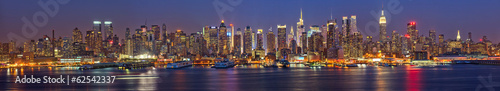 Foto op Canvas New York Manhattan at night