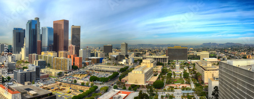 Downtown, Los Angeles Canvas Print