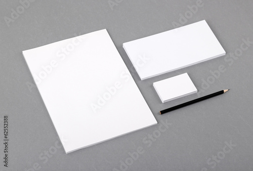 Blank basic stationery letterhead flat business card envelope letterhead flat business card envelope reheart Choice Image