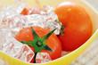 Tomato on ice.