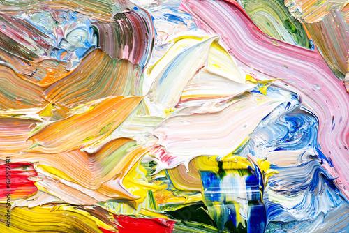 Fotobehang Paradijsvogel bloem Abstract art background. Hand-painted background