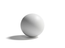 Sphere With Shadow. 3d White Ball Isolated On White Background