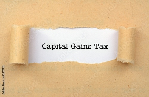 Fototapeta Capital gain tax obraz