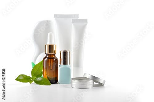Fotografie, Obraz  Daily care cosmetics on white background.