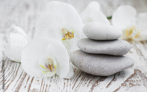Orchids spa Wallpaper Mural
