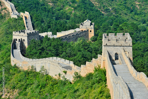 Fotobehang Chinese Muur Great Wall of China in Summer