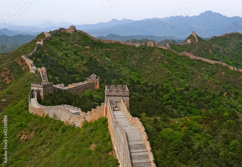 Great Wall of China in Summer Canvas Print