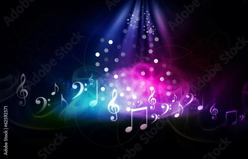 Obrazy muzyczne  digital-illustration-of-music-background