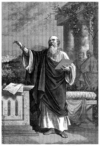 Ancient Philosopher (or early Christian Preacher) Canvas Print