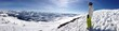 Skifahren-Panoramaaufnahme