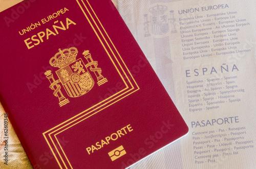 Photographie  Spanish passport