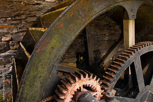 Stickers pour porte Moulins Water Mill Wheel workings