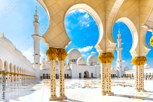 Spoed Foto op Canvas Abu Dhabi Sheikh Zayed Mosque, Abu Dhabi, United Arab Emirates
