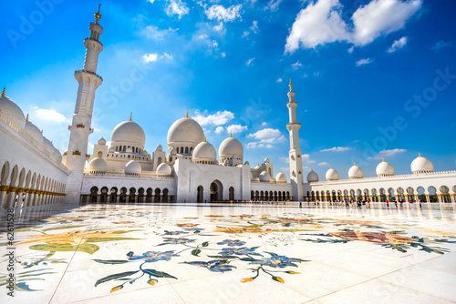 Wall Murals Abu Dhabi Sheikh Zayed Mosque, Abu Dhabi, United Arab Emirates