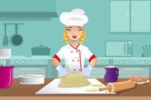 Baker Making Dough