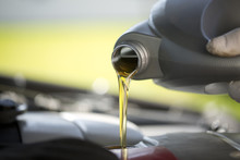 Fresh Oil Pouring Into A Car E...