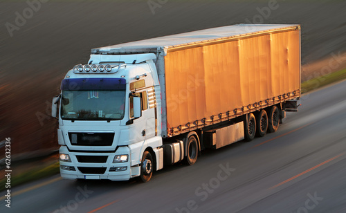 Fotografie, Obraz Highway with cars and Truck