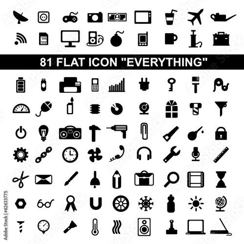 Photo flat icons
