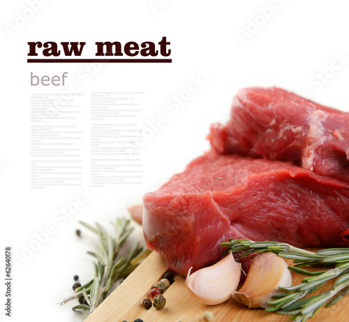 Staande foto Vlees raw meat