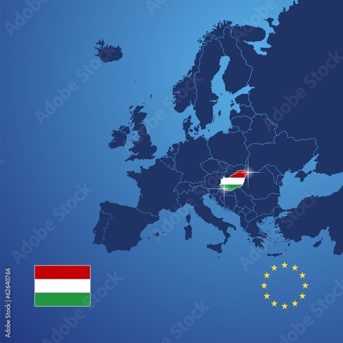 Fotografie, Tablou Hungary map cover vector