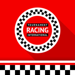 FototapetaRacing badge 06