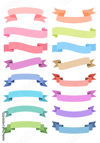 Fotografía  ribbon banner set, vector