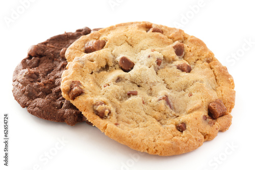 Tuinposter Koekjes Large light chocolate chip cookie
