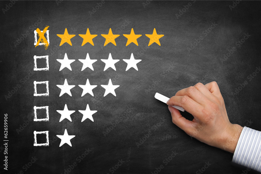 Fototapeta Bewertung 5 Sterne
