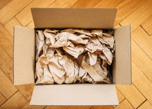 Cardboard Box Filled With Shipping Packaging Paper