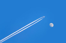 Jet Airplane On Blue Sky With ...