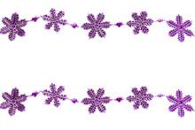 Plastic Purple Snowflakes