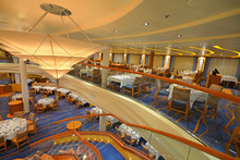 Dining Room On A Beautiful Cruise Ship, Amazing Architecture.